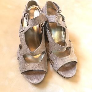 Donald J. Pilner cork wedge sandals size 9